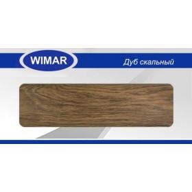 Плинтус Wimar (Вимар), ПВХ, с кабель-каналом 806 Дуб скальный, 58 мм.