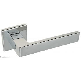 Дверная ручка на квадратном основании Fratelli Cattini BOOM 8FS-CR полированный хром