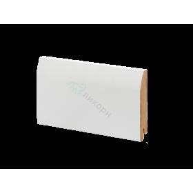 Плинтус напольный МДФ белый К-20 Ликорн 100х16 мм