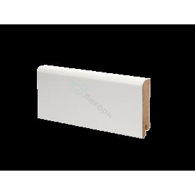 Плинтус напольный МДФ белый К-02 Ликорн 80х16 мм