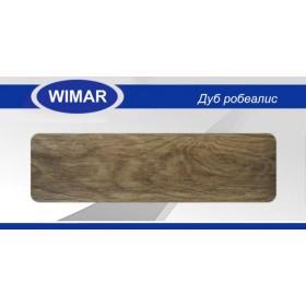 Плинтус Wimar (Вимар), ПВХ, с кабель-каналом 817 Дуб обыкновенный, 58 мм.