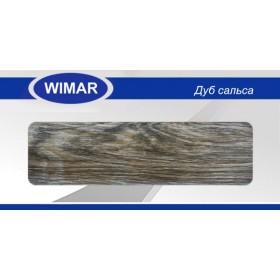 Плинтус Wimar (Вимар), ПВХ, с кабель-каналом 803 Дуб сальса, 58 мм.
