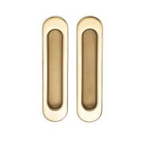 Ручка для раздвижных дверей и шкафов-купе без механизмов SILLUR A-K05-V0 P.GOLD/S.GOLD золото/матовое золото