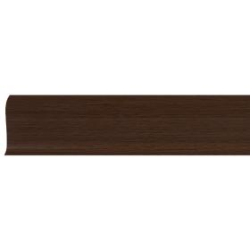 Плинтус ПВХ Line Plast L015 Мербау натуральный 2500х58х28 мм