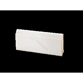 Плинтус напольный МДФ белый К-26 Ликорн 80х16 мм