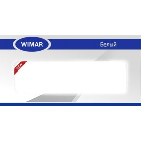 Плинтус Вимар - Wimar, с кабель каналом, 829 Белый, 86мм.