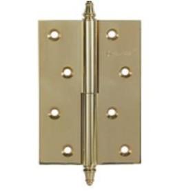Дверные петли Archie A010-D 100X70X3-2U L (разъемная левая) с короной матовая латунь