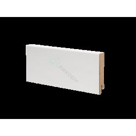 Плинтус напольный МДФ белый К-06 Ликорн 80х16 мм