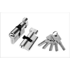 Цилиндровый механизм латунный PALIDORE 90РС ключ/завертка хром