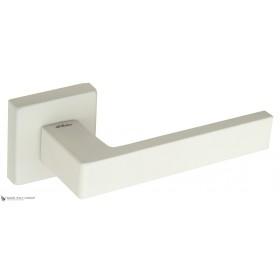 Дверная ручка на квадратном основании Fratelli Cattini BOOM DIY 8-BI матовый белый