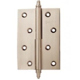 Дверные петли A010-D 100X70X3-2H L (разъемная левая) с короной белый никель