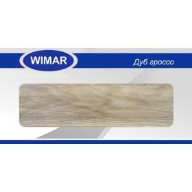 Плинтус Wimar (Вимар), ПВХ, с кабель-каналом 810 Дуб гроссо, 58 мм.