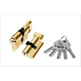 Цилиндровый механизм латунный PALIDORE 90РВ ключ/завертка золото