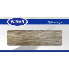 Плинтус Wimar (Вимар), ПВХ, с кабель-каналом 809 Дуб эллора, 58 мм.