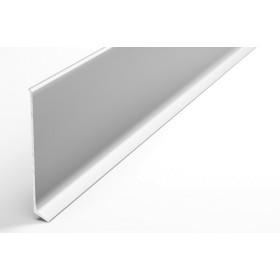 Плинтус из алюминия Пл 80 анод серебро 01л