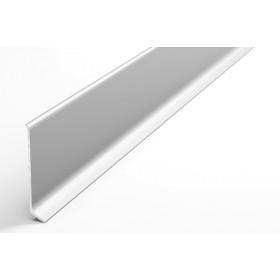 Плинтус из алюминия Пл 60 анод серебро 01л