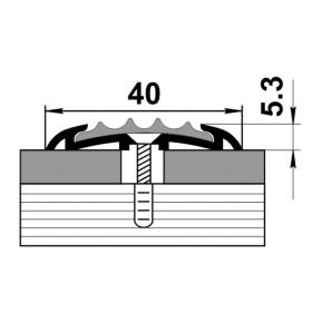 Профиль для ступеней входной группы ПС 08-1 без покрытия 00 с черной вставкой 470