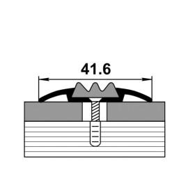 Профиль для ступеней входной группы ПС 08 шоколад 03 с чёрной вставкой 470